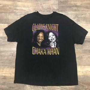 Other - Vtg 2XL Chaka Khan Gladys Knight T-Shirt